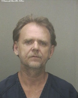 The was arrested in Pompano Beach on Tuesday after crashing his motorcycle  into a Ford escort.