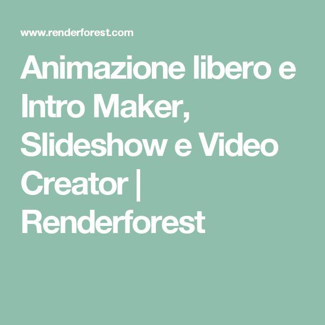Animazione libero e Intro Maker, Slideshow e Video Creator |  Renderforest