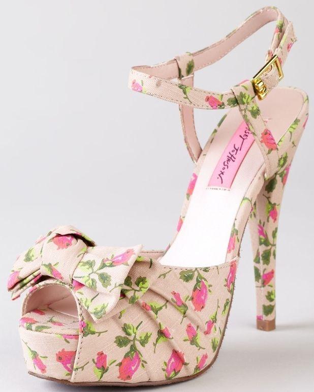 17 Best ideas about Floral Heels on Pinterest | Floral high heels ...