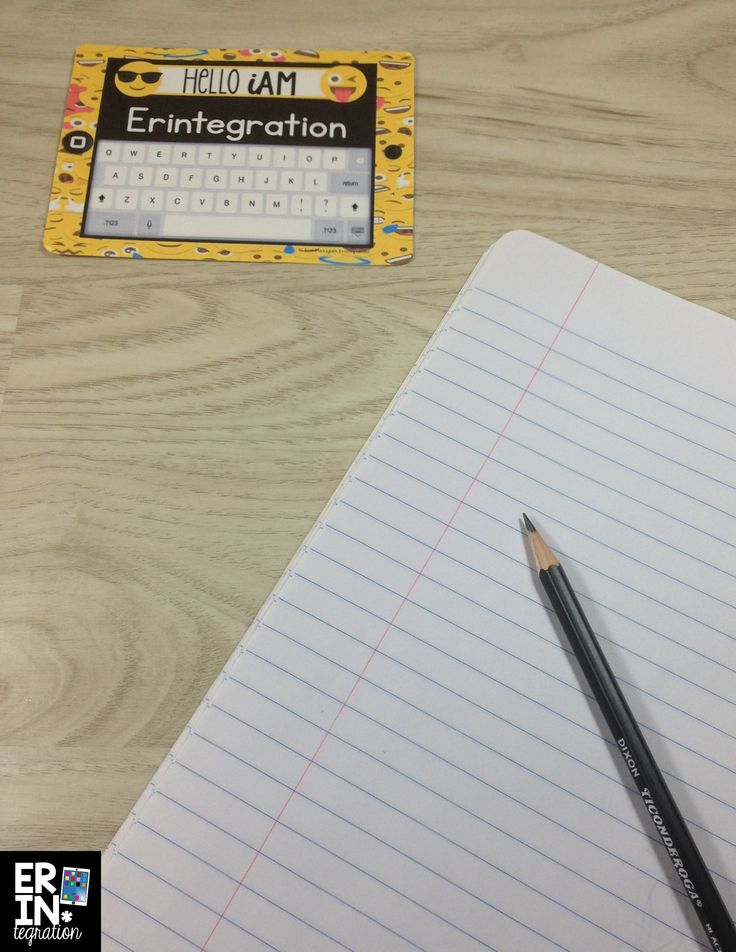 Emoji name tags with QWERTY keyboard.  Students love to pretend type on these!  Completely editable - type your students' names and save time.  Would also look great on a bulletin board!