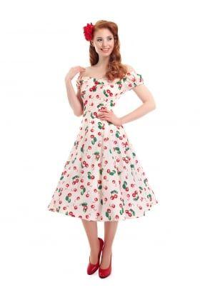 Dolores Doll 50s Cherry Print Dress