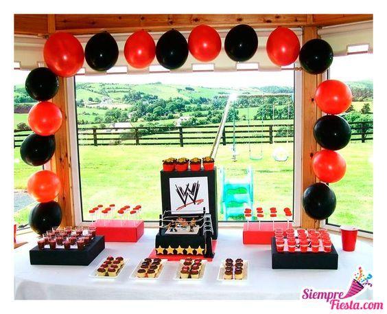 Ideas para fiesta de cumpleaños con los luchadores de la WWE. Encuentra todos los artículos para tu fiesta en nuestra tienda en línea. Entra aquí: http://www.siemprefiesta.com/fiestas-infantiles/ninos/articulos-wwe.html?limit=all&utm_source=Pinterest&utm_medium=Pin&utm_campaign=WWE