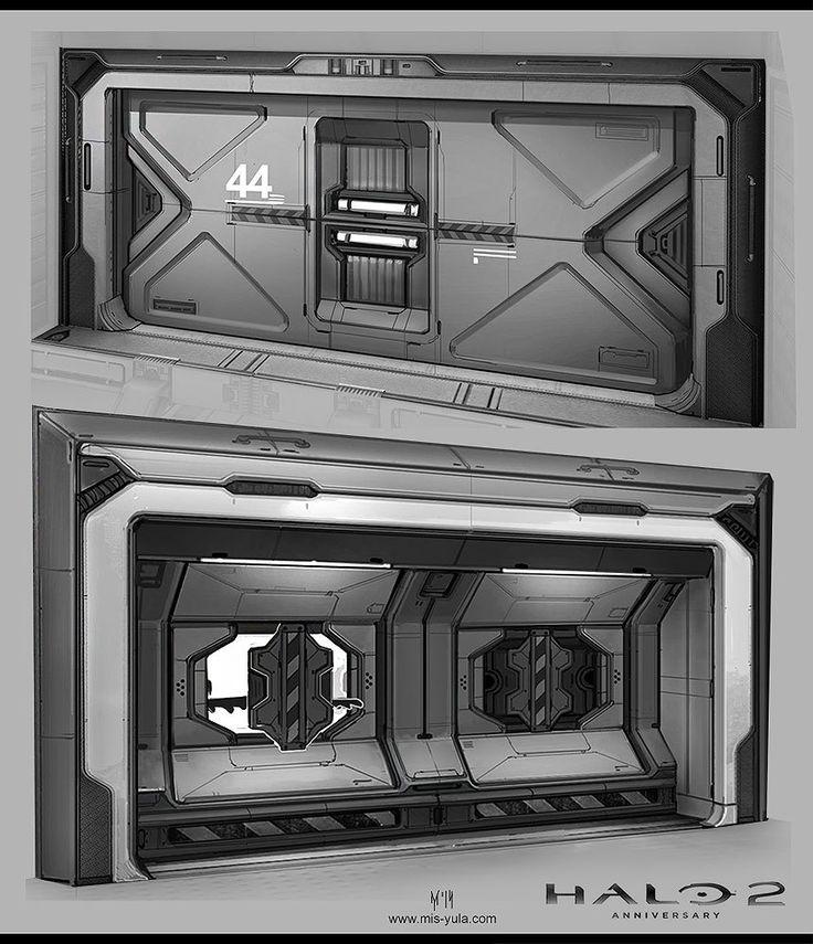 Concept Art: Halo 2 Anniversary /doors/, Iuliia Misiul on ArtStation at https://www.artstation.com/artwork/concept-art-halo-2-anniversary-doors