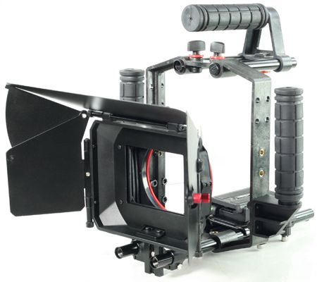 Filmcity Video Camera Cage with Matte Box  http://www.thecinecity.com/eshop/Filmcity-Video-Camera-Cage-with-Matte-Box-FC-65-N.html