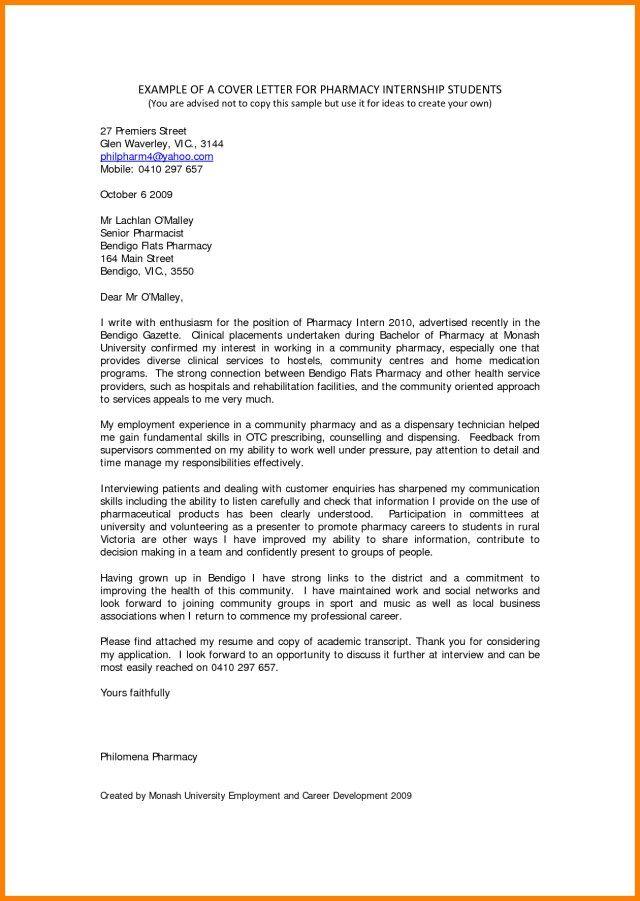 30 Cover Letter For Internship Examples Fiustk