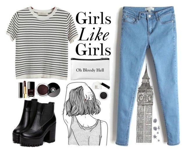 """Girls Like Girls - Hayley Kiyoko"" by ninailia ❤ liked on Polyvore featuring Chicnova Fashion, Chanel, Clarins and Make"