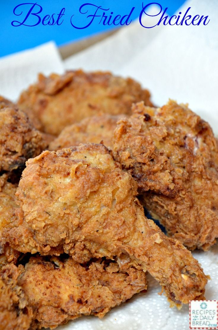 What is my favorite food ever? Fried Chicken! If you like Fried Chicken, you will love this crunchy, juicy, flavorfulBest Ever Fried Chicken Recipe!   If fried chicken is on the menu, I am ordering it. I have found lots of restaurants who have wonderful fried chicken, but honestly I still