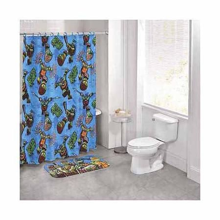Nickelodeon Teenage Mutant Ninja Turtles 14 Piece Bath Set Kid Bathroom Decorkid