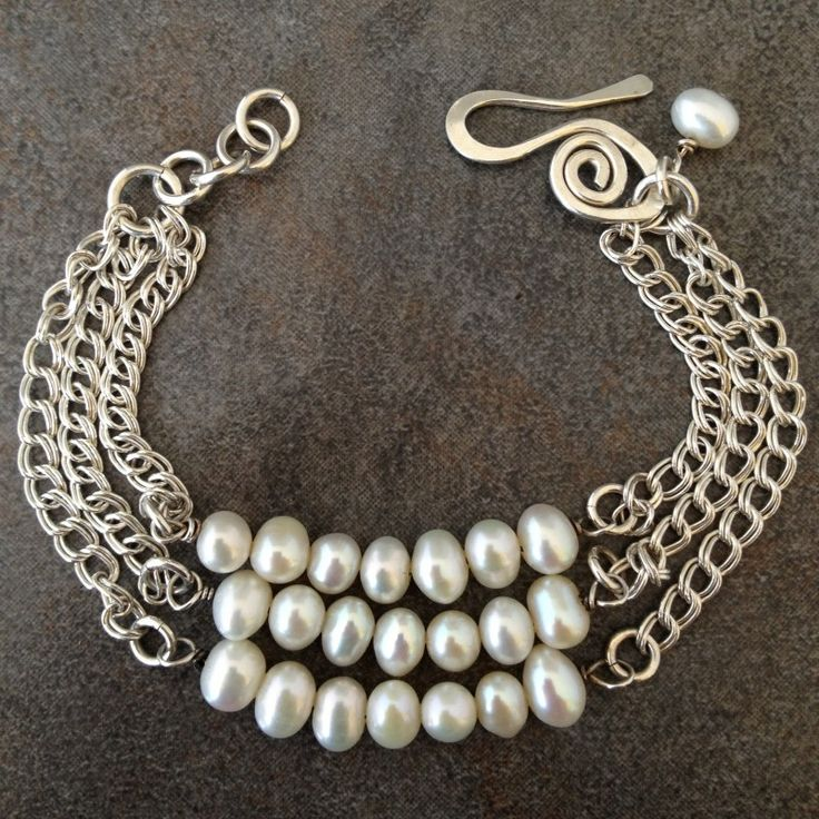 Sterling Silver and Pearls Bracelet