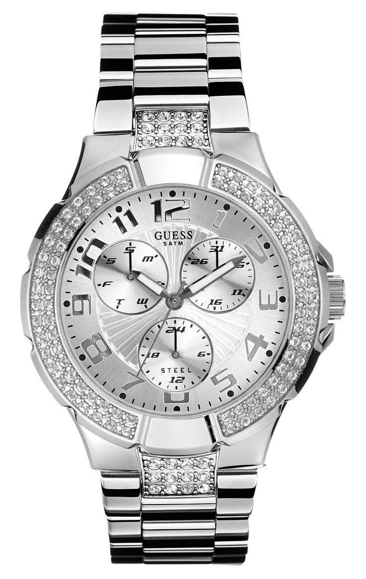 Guess sølv ur til damer med sten - Guess Prism I14503L1