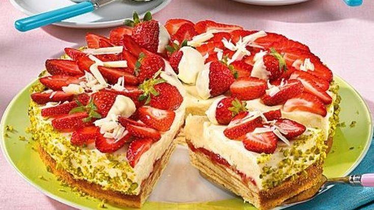 Den kennt ihr bestimmt noch nicht: Erdbeer-Baumkuchen-Torte!