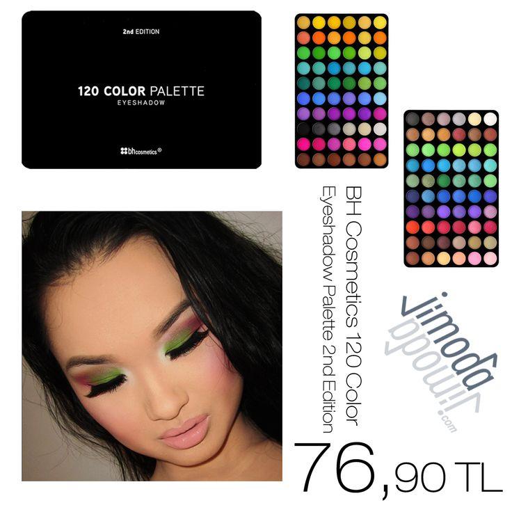 BH Cosmetics 120 Color Eyeshadow Palette 2nd Edition sadece 76,90 TL. Bh Cosmetics 120 renk paletinin farklı renk seçenekleri de mevcut. Hemen göz atın jimoda.com  #bhcosmetics #makyaj #makeup #bakım #kozmetik #güzellik #kadın
