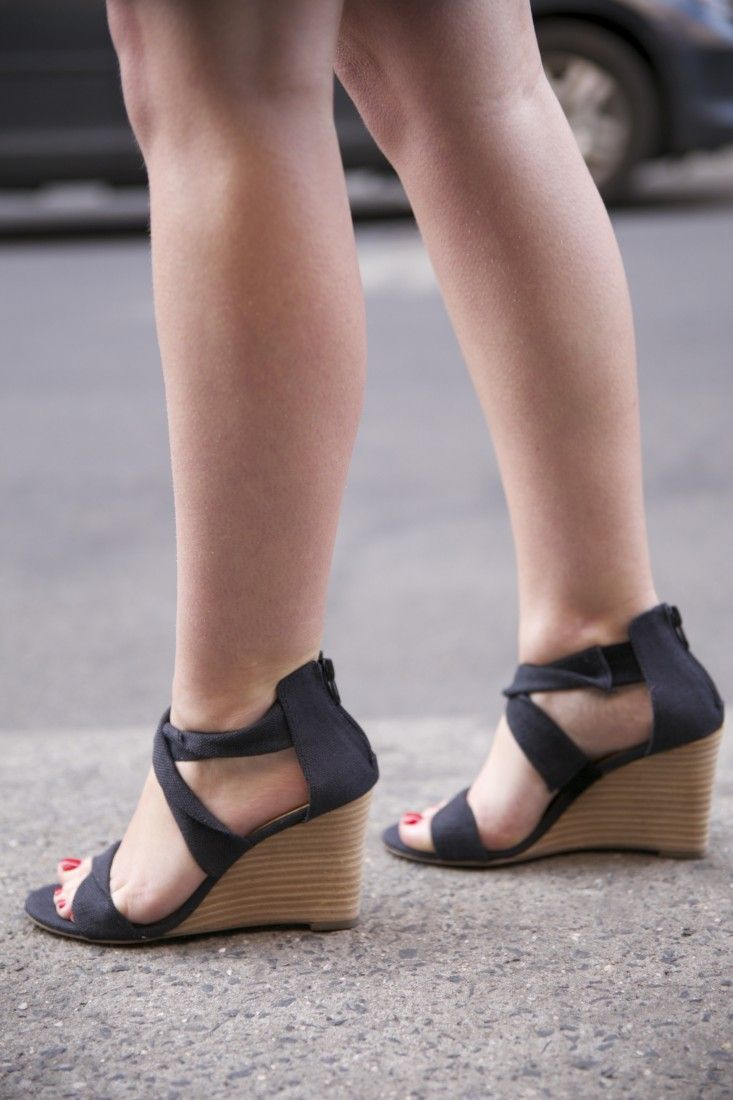 Wedge espadrille sandals with an open toe perfect for summer!