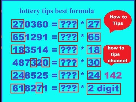 lottery tips best formula 100% sure number nex lottery