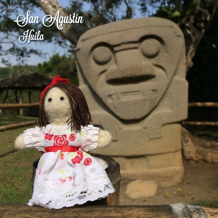 Dulce in San Agustín Huila, Colombia. Felted doll.
