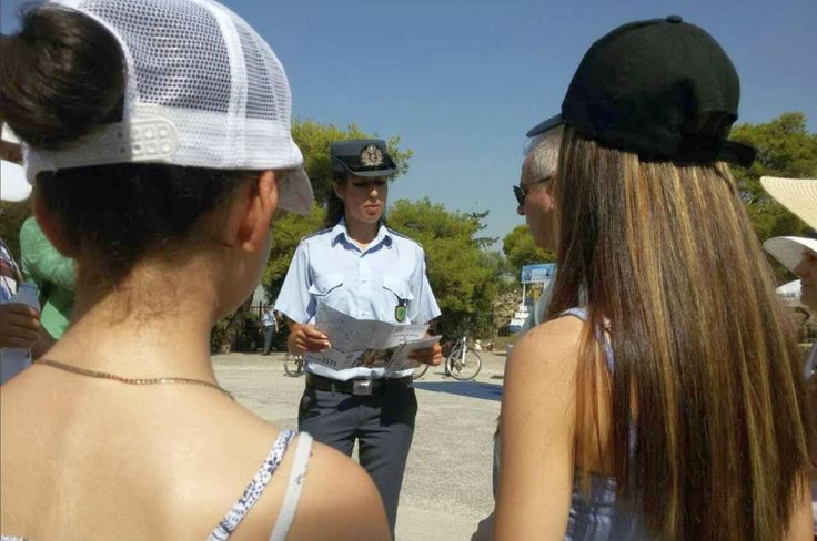 Greek Police Launch Awareness Campaign for Tourists in Athens.