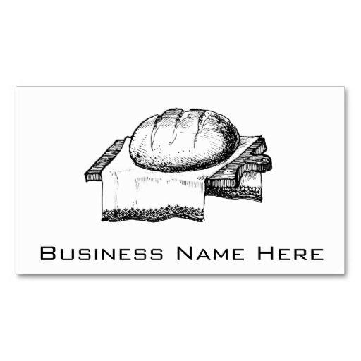283 best bread business cards images on pinterest bread breads vintage bread illustration black line art business card reheart Gallery