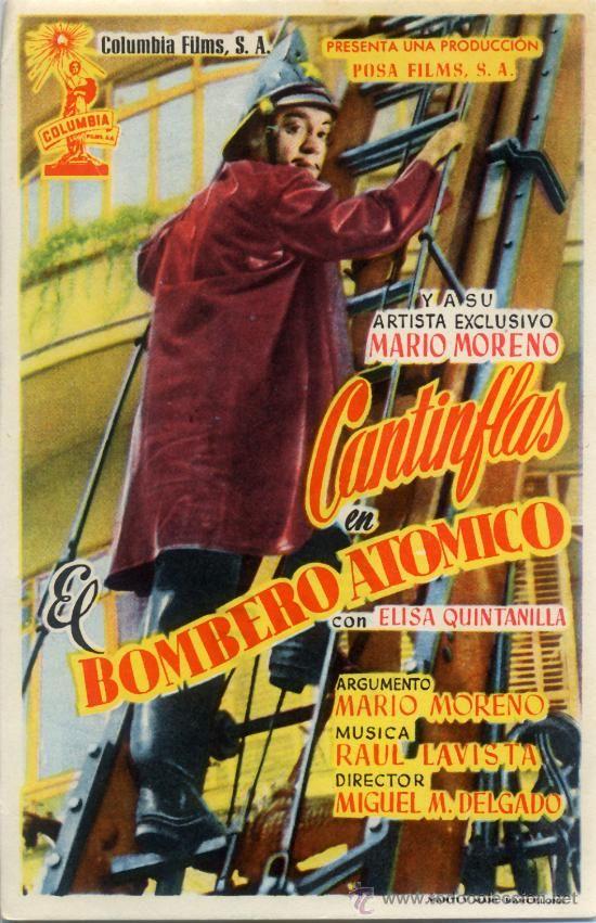 EL BOMBERO ATOMICO 1950 (FOLLETO DE MANO ORIGINAL) MARIO MORENO CANTINFLAS - Foto 1