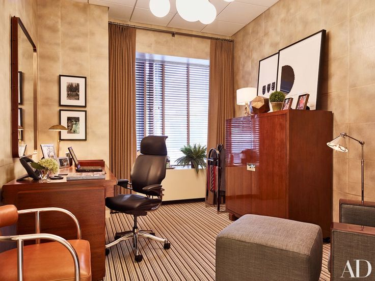 Good Morning America anchor George Stephanopoulos used to prep for his daily show in a drab, disorganized office—then designer Michael S. Smith came to the rescue.