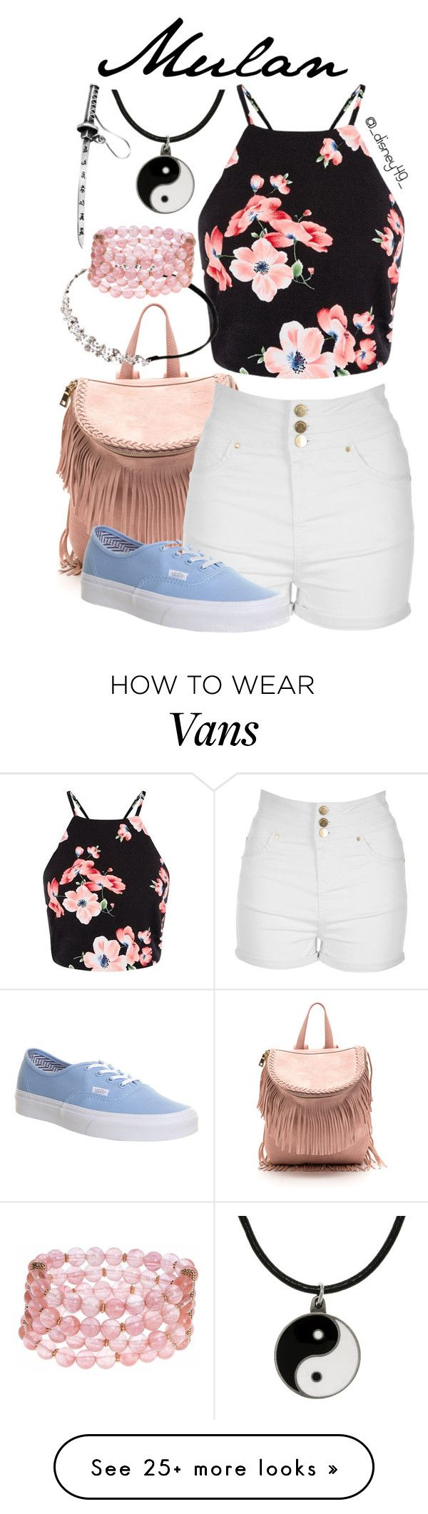 """""""Mulan"""" by disney49 on Polyvore featuring Jane Norman, Carolina Glamour Collection, Vans, Johnny Loves Rosie and Lonna & Lilly"""