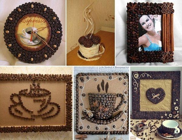 DIY Coffee Beans Art - http://www.ikeadecoratingideas.com/decoration-tips/diy-coffee-beans-art.html