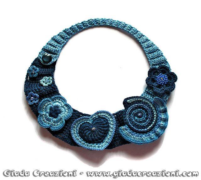Girocollo Luisa by Kaos Inside, via Flickr, crochet collar