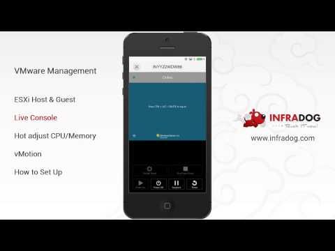 Cool App - Manage vSphere from you phone with InfraDog