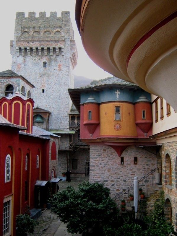 Greece Art & Architecture  Karakalou Monastery, Mount Athos  searched by NEΦEΛH AΓΓEΛΛOY