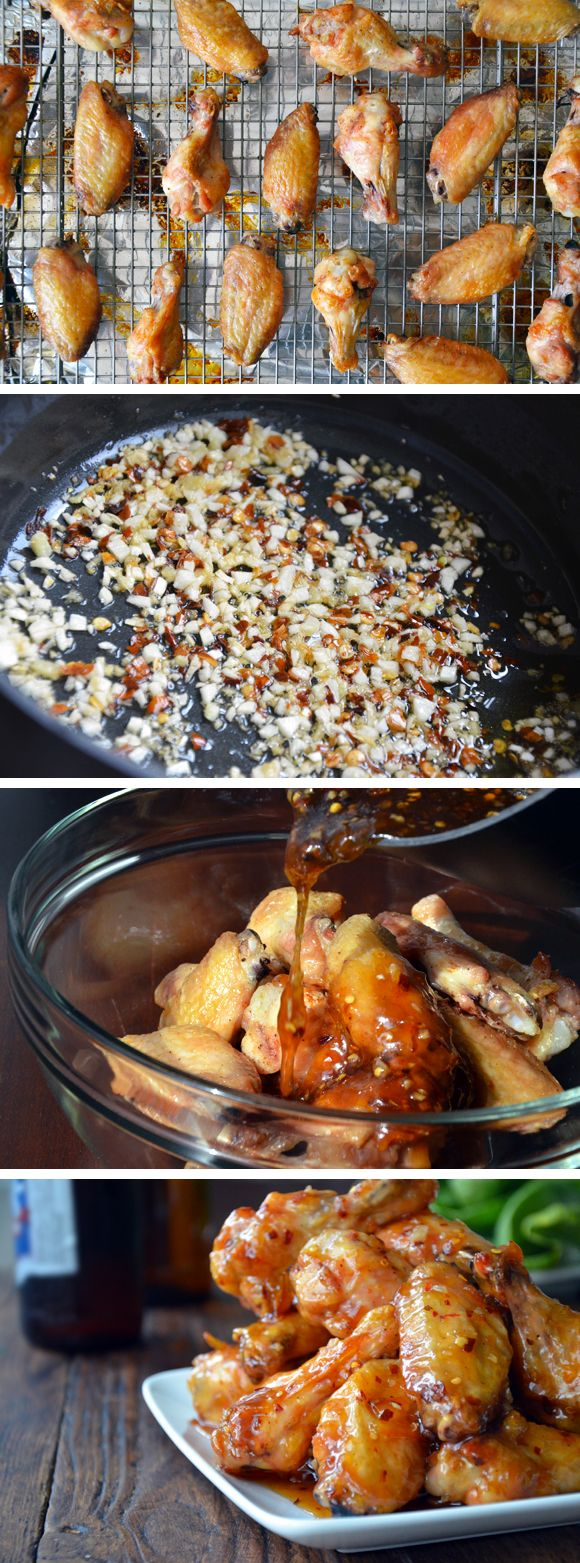 Crispy Baked Orange Chicken Wings from justataste.com #recipe #chicken