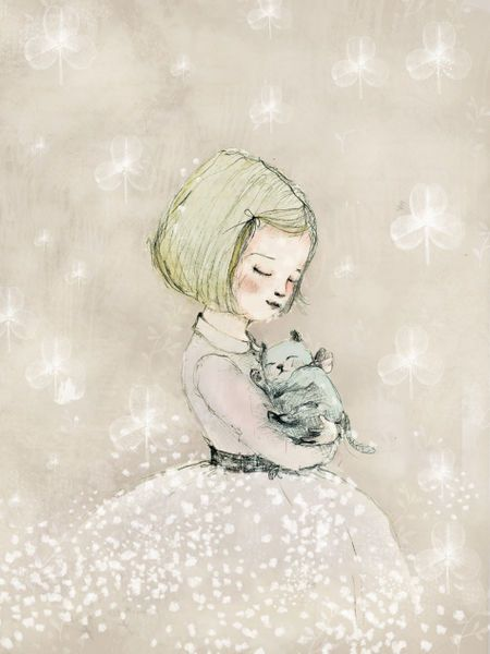 Paola Zakimi - Girl and Cat