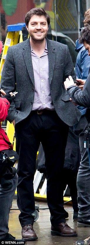 "canadiangarrison: ""acaitstuff: ""Tom Burke filming as Cormoran Strike. "" Ohhhh he is so delightful """