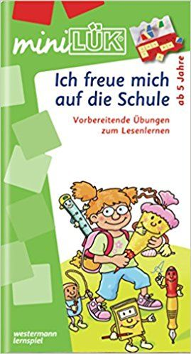 miniLÜK / Kindergarten / Vorschule: miniLÜK: Ich freue mich auf die Schule 1: Buchstaben - akustische Differenzierung - visuelle Wahrnehmung für Kinder ab 5 Jahren: Amazon.de: Michael Junga: Spielzeug