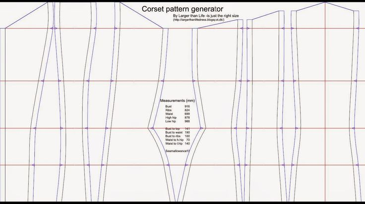 Larger than life: The corset pattern generator is here!