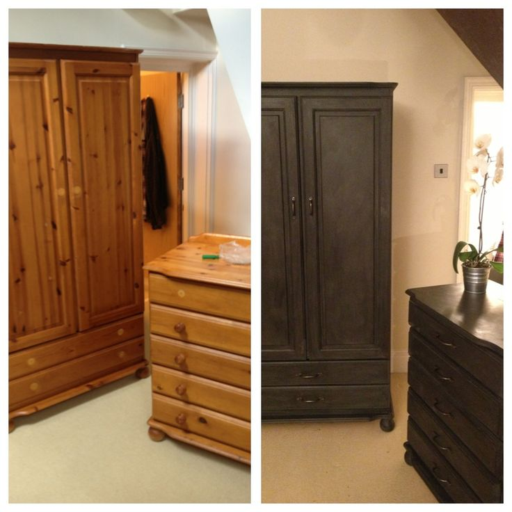 We used Annie Sloan Chalk paint and wax to completely bring to life some  old pine