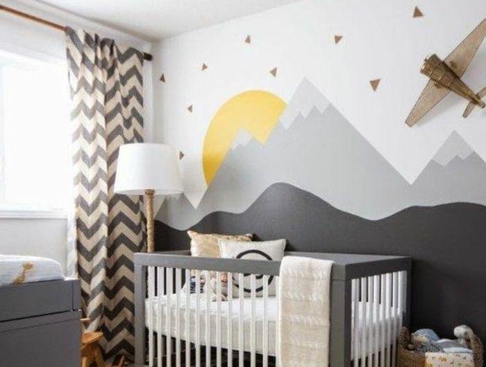 Chambre Bebe Jaune Et Gris - Conceptions De La Maison - Bizoko.com