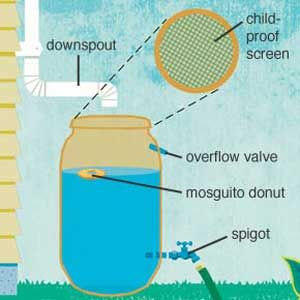 Rain Barrel - then paint the outside. You're going to have to prop it up on something for best results.