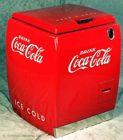 The Westinghouse Soda Cooler Was A Popular Self Service Machine Because Of Its Compact Size
