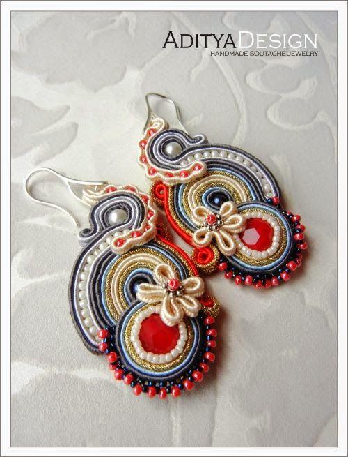 Soutache Earrings by AdityaDesign