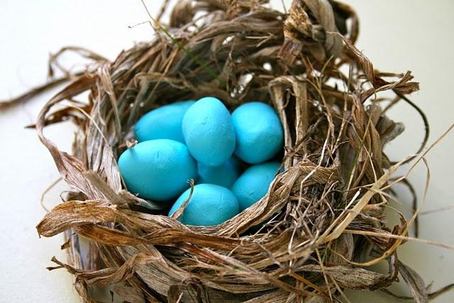 #colorNature Crafts, Easter, Birds Nests, Little Birds, Nests Buildings, Spring, Robin Eggs Blue, Red Birds, Birds Crafts