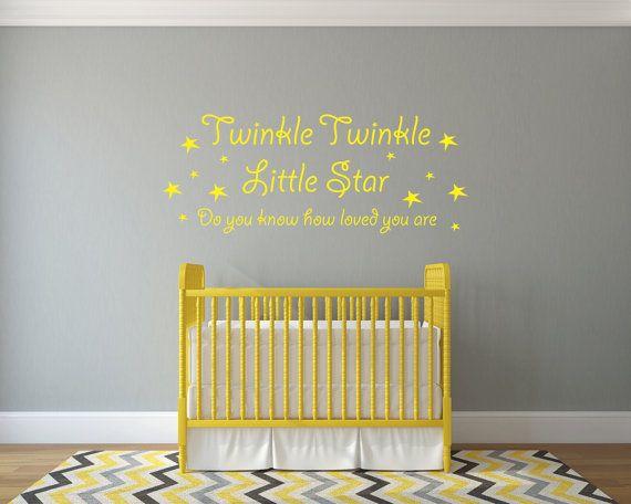 Twinkle Twinkle Little Star  Vinyl Wall Sticker by ImprintWorkshop, £10.39