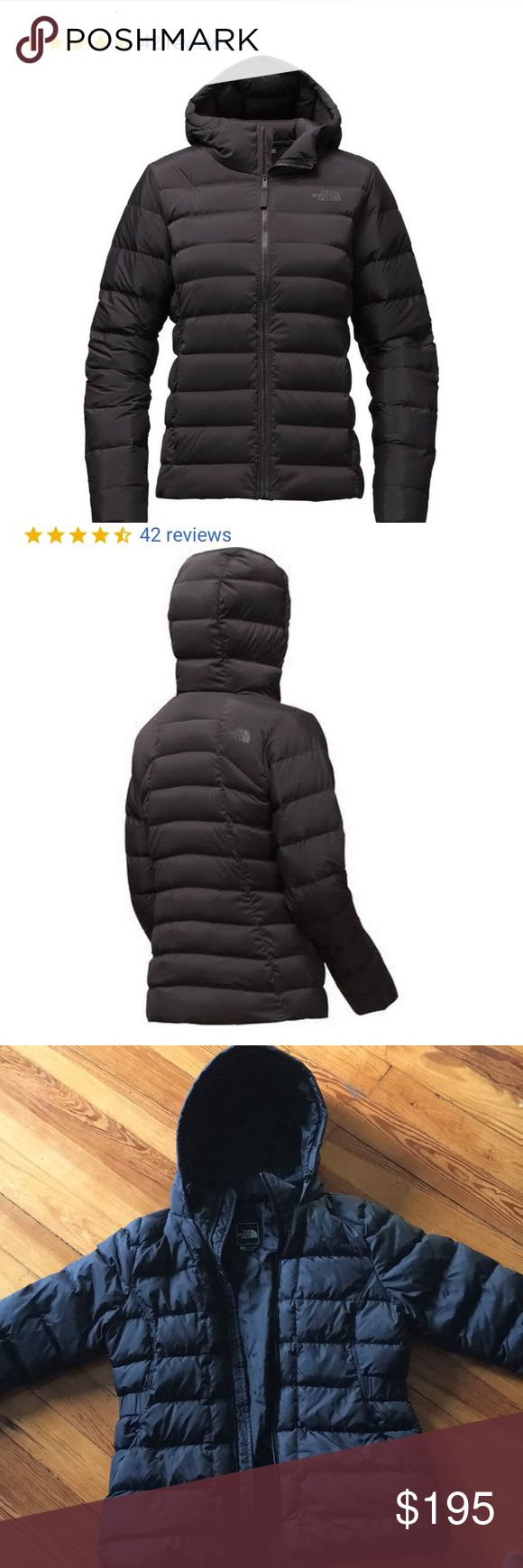 North face black stretch down jacket North face women's black stretch down jacket! Online now for $250 but I bought for $280 from REI!!! Tapered waist for a slimming effect! Size L can fit size M! Goose down jacket perfect for winter received perfect ratings!!! Brand new no flaws The North Face Jackets & Coats Puffers