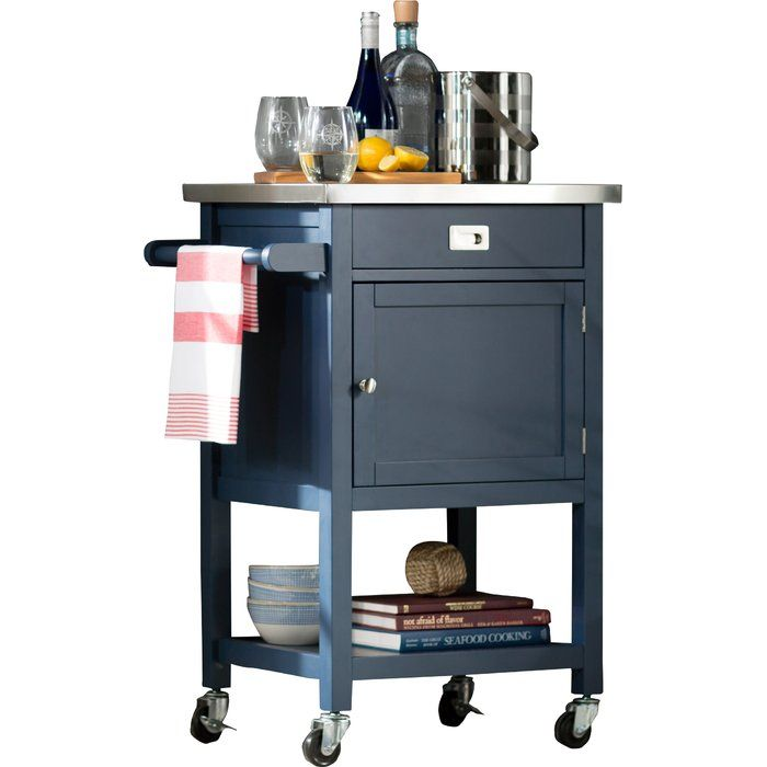 Eira Kitchen Cart With Stainless Steel Top Kitchen Cart Kitchen Design Open Best Kitchen Designs