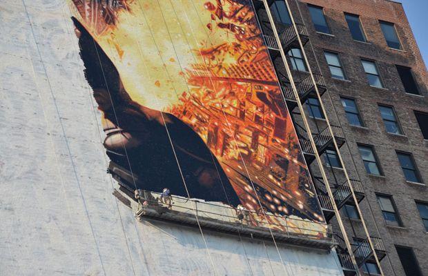 Hand Painted 150-Foot Batman Mural In NYC