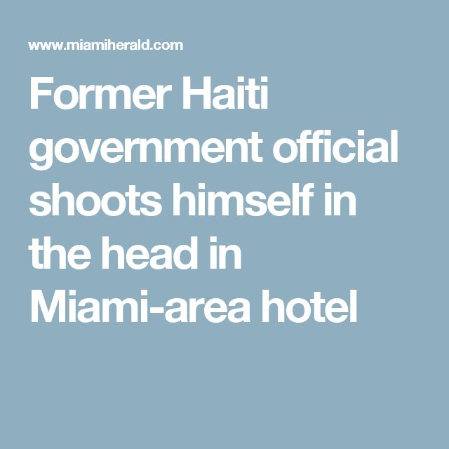 """""""Former Haiti government official shoots himself in the head in Miami-area hotel""""  """"He was also a partner in a popular pizza restaurant in Haiti, Muncheez, and has a pizza — the Klaus Special — named after him.""""  Haiti and pizza- where have I heard those two things connected before?  """"Eberwein was scheduled to appear Tuesday before the Haitian Senate's Ethics and Anti-Corruption Commission""""  Hmm..."""