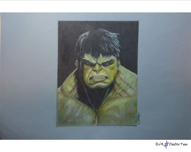-THE INCREDIBLE HULK PORTRAIT -Colored pencils on canson paper / unframed -Measures: 35x50 cm https://www.etsy.com/listing/218311141/hulk-portrait-illustration-superhero