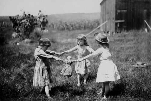 Ring around the Rosey ... such elementary games ... but we had fun