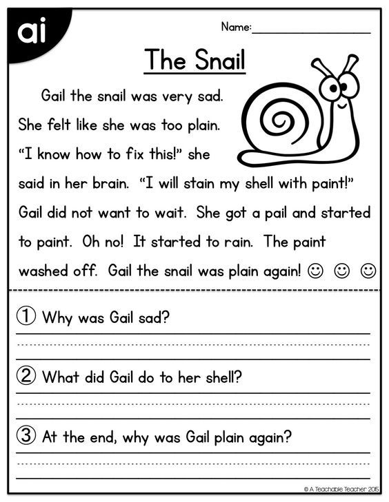 """FREE reading passage for the """"ai"""" vowel team!:"""
