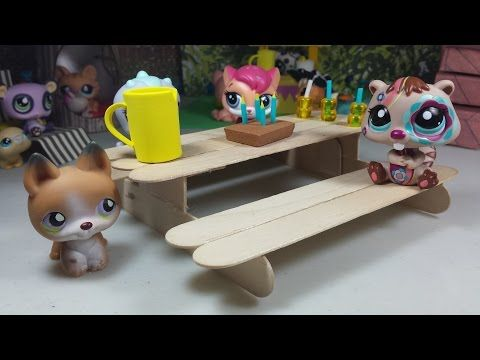 150 best lps images on pinterest lps accessories miniatures and how to make a tiny picnic bench easy lps doll diy youtube ccuart Choice Image