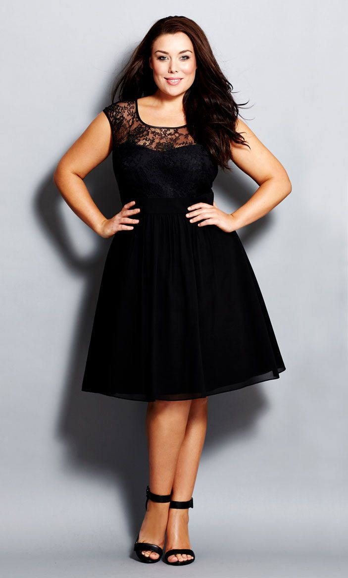 City Chic - LACE GODDESS DRESS - Women's Fashion