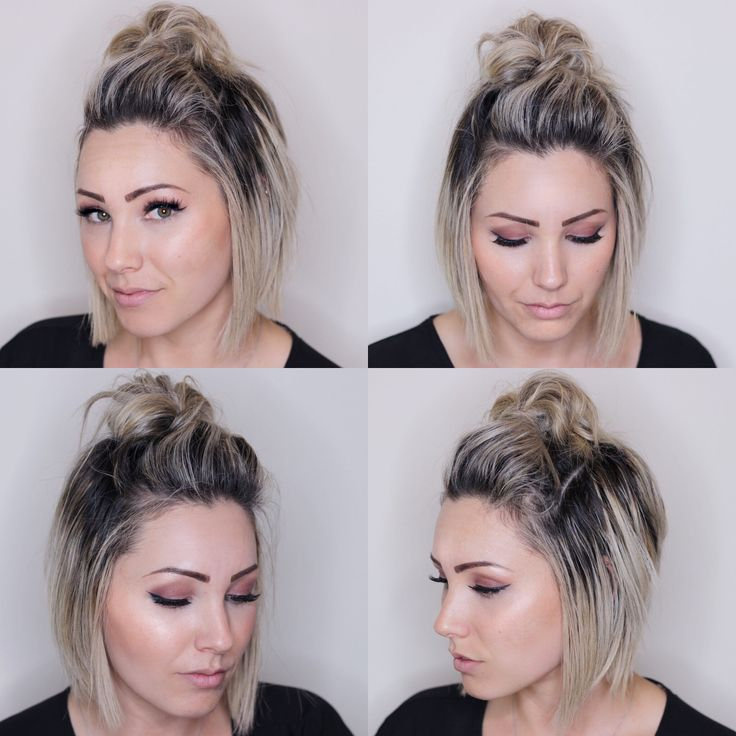 Top Knot For Short Hair Hairstyle Soft Bob Haircut